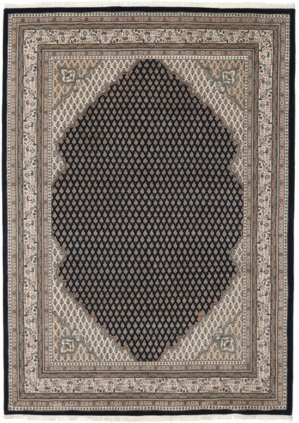 Mir Indo Rug 171X240 Authentic  Oriental Handknotted Light Brown/Black (Wool, India)
