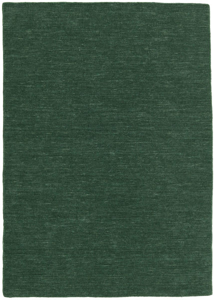 Kilim Loom - Forest Green Rug 140X200 Authentic  Modern Handwoven Dark Green (Wool, India)