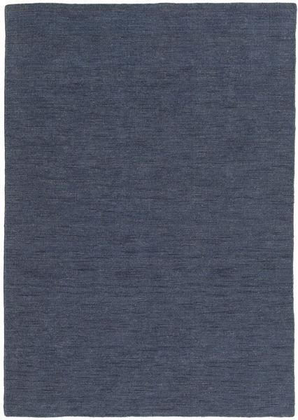 Kelim loom - Denim Blau Teppich CVD21129