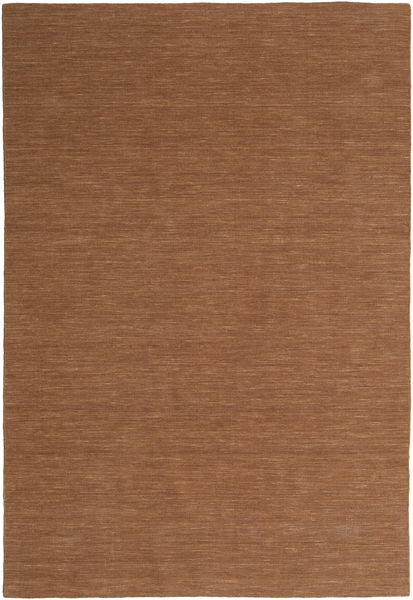 Kelim Loom - Brun Matta 200X300 Äkta Modern Handvävd Brun (Ull, Indien)