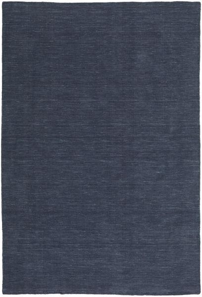Kilim Loom - Denim Bleu Tapis 200X300 Moderne Tissé À La Main Bleu Foncé/Bleu (Laine, Inde)