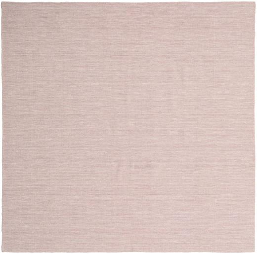 Kilim Loom - Misty Pink Szőnyeg 250X250 Modern Kézi Szövésű Szögletes Világos Rózsaszín/Bézs Nagy (Gyapjú, India)