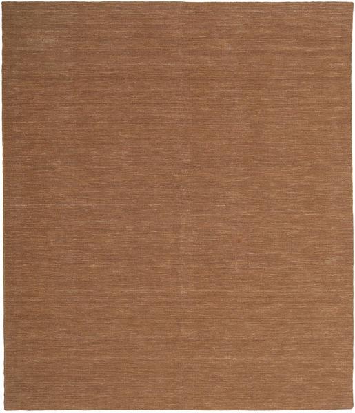 Kilim Loom - Brunatny Dywan 250X300 Nowoczesny Tkany Ręcznie Brązowy Duży (Wełna, Indie)