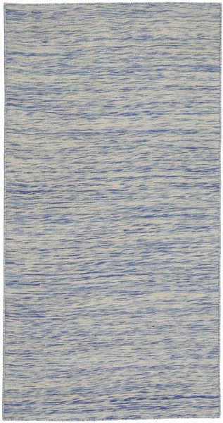 Kelim Indo Matto 77X152 Moderni Käsinkudottu Vaaleanharmaa (Villa, Intia)