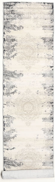 Alaska - Light Grey/Cream Rug 80X200 Modern Hallway Runner  Beige/Light Grey ( Turkey)