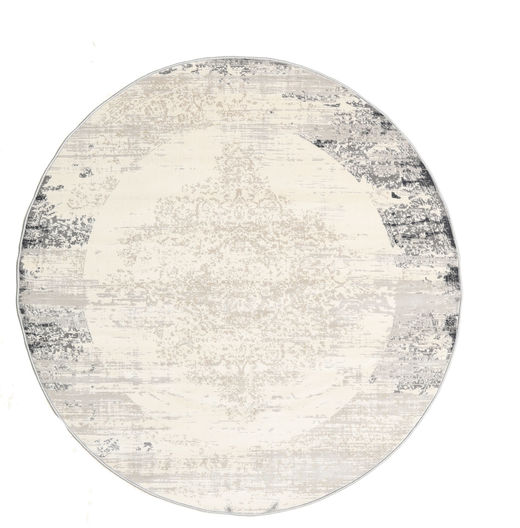 Alaska - Light Grey/Cream Rug Ø 150 Modern Round Beige/Light Grey ( Turkey)