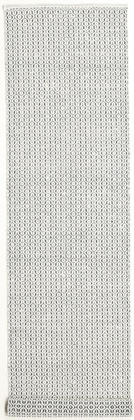 Alva - White/Black Rug 80X350 Authentic  Modern Handwoven Hallway Runner  Beige/Light Grey (Wool, India)