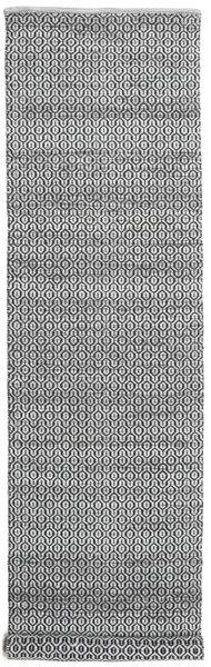 Alva - Szürke/Fekete Szőnyeg 80X350 Modern Kézi Szövésű Sötétszürke/Világosszürke/Bézs/Krém (Gyapjú, India)