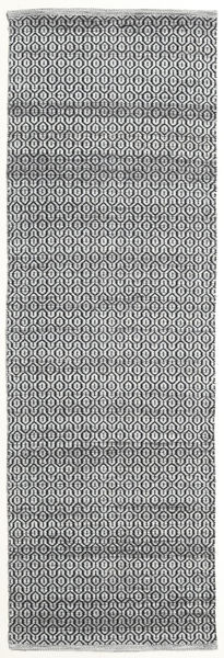 Alva - Gri/Negru Covor 80X250 Modern Lucrate De Mână Gri Închis/Gri Deschis (Lână, India)