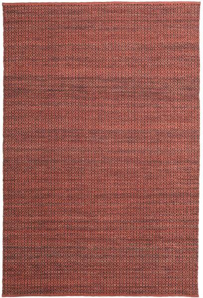 Alva - Dark_Rust/Preto Tapete 200X300 Moderno Tecidos À Mão Castanho Escuro/Vermelho Escuro (Lã, Índia)