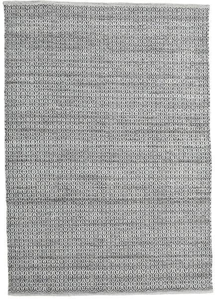 Alva - Grey/Black Rug 160X230 Authentic  Modern Handwoven Light Grey/Dark Grey (Wool, India)