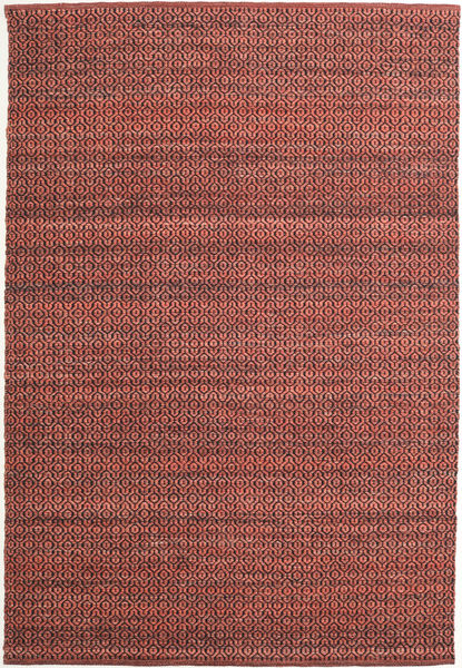Alva - Dark_Rust/Black Rug 160X230 Authentic  Modern Handwoven Brown/Dark Brown (Wool, India)