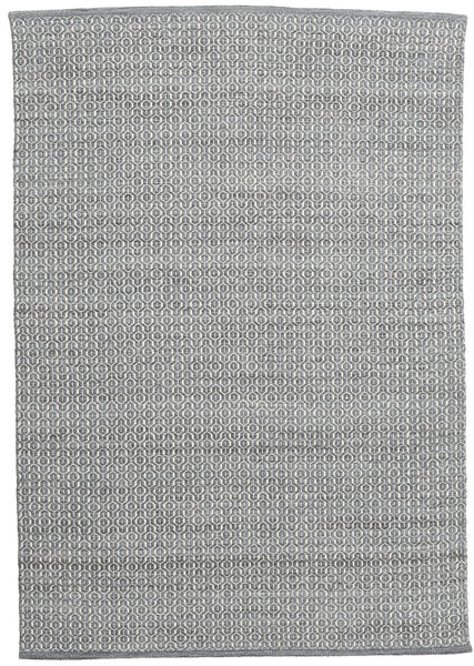 Alva - Dark Grey/White Rug 160X230 Authentic  Modern Handwoven Light Grey/Dark Grey (Wool, India)