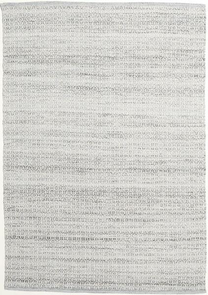 Alva - Grå/Vit Teppe 160X230 Ekte Moderne Håndvevd Beige/Lys Grå (Ull, India)