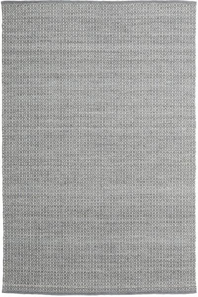 Alva - Mörkgrå/Vit Matta 200X300 Äkta Modern Handvävd Ljusgrå/Ljusgrön (Ull, Indien)