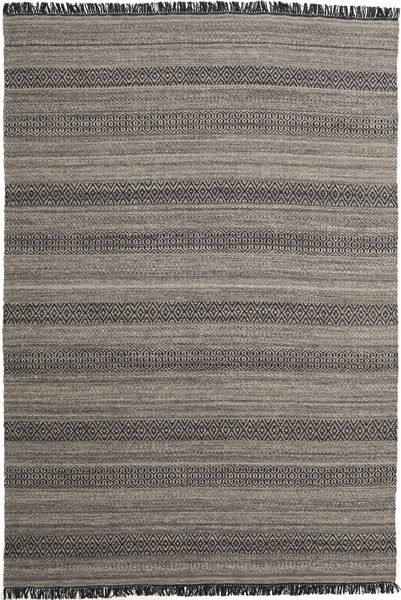 Hedda - Brown Rug 220X320 Authentic  Modern Handwoven Dark Grey/Light Grey (Wool, India)