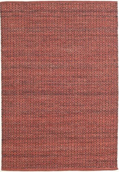 Alva - Dark_Rust/Noir Tapis 140X200 Moderne Tissé À La Main Rouge Foncé/Rouille/Rouge (Laine, Inde)