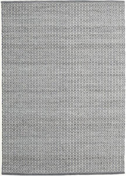 Alva - Dark Grey/White Rug 140X200 Authentic  Modern Handwoven Light Grey/Dark Grey (Wool, India)