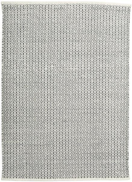 Alva - White/Black Rug 140X200 Authentic  Modern Handwoven Beige/Dark Grey/Light Grey (Wool, India)