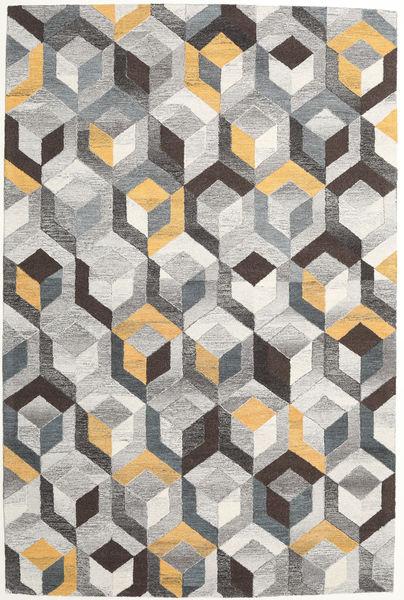 Cube - Grey/Gold Rug 200X300 Modern Light Grey/Dark Beige (Wool, India)