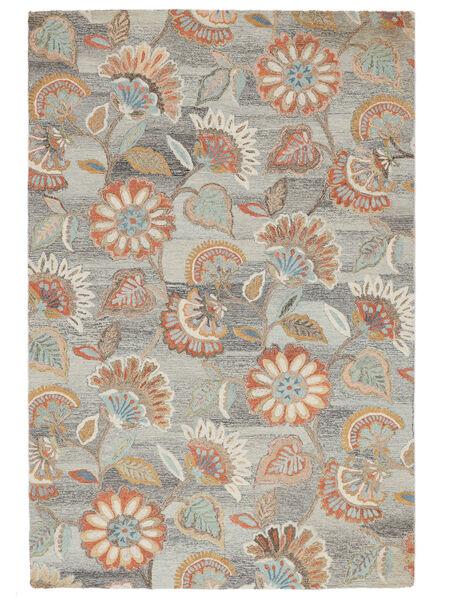 Rusty Flowers - Γκρι/Στο Χρώμα Της Σκουριάς Χαλι 200X300 Σύγχρονα Ανοιχτό Γκρι/Μπεζ (Μαλλί, Ινδικά)
