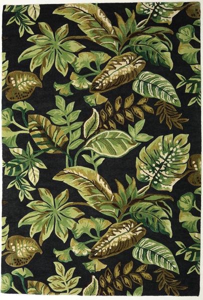 Jungel - Grön/Svart Matta 200X300 Modern Mörkgrön/Olivgrön (Ull, Indien)