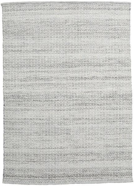 Alva - Grey/White Rug 140X200 Authentic  Modern Handwoven Light Grey (Wool, India)