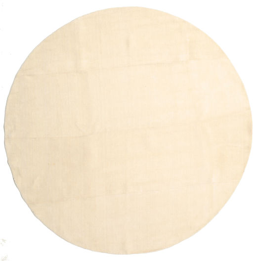 Handloom - Secondary Rug Ø 300 Modern Round Beige/Yellow Large (Wool, India)