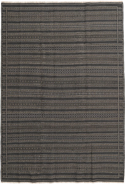 キリム ペルシャ 絨毯 200X300 オリエンタル 手織り 濃いグレー (ウール, ペルシャ/イラン)