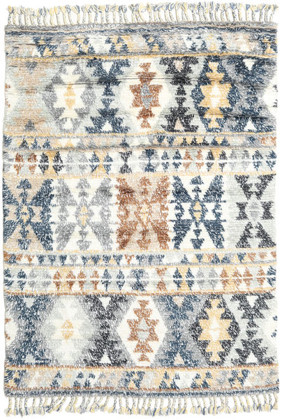 Märta - Blue Rug 160X230 Authentic  Modern Handknotted Light Grey/Beige (Wool, India)