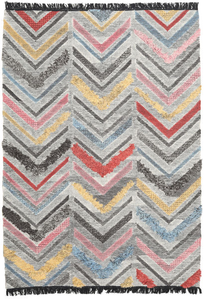 Zigzag Rug 160X230 Authentic  Modern Handwoven Light Grey/Dark Grey (Wool, India)