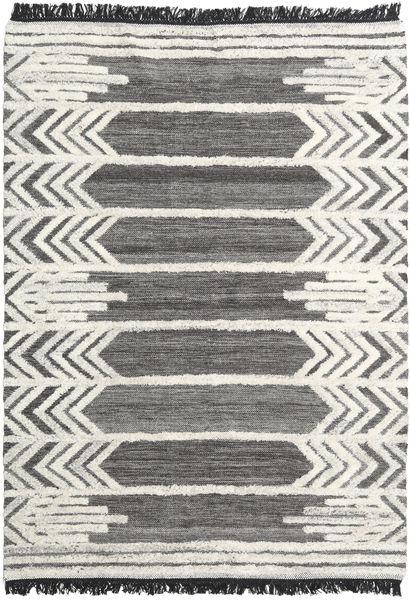 Arrow Rug 160X230 Authentic  Modern Handwoven Dark Grey/Dark Beige (Wool, India)