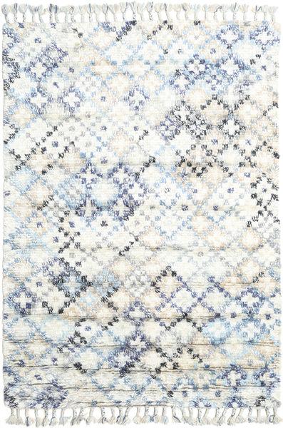Greta Matto 160X230 Moderni Käsinsolmittu Beige/Valkoinen/Creme (Villa, Intia)