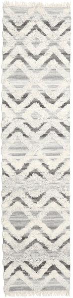 Lydia 絨毯 80X350 モダン 手織り 廊下 カーペット ベージュ/暗めのベージュ色の (ウール, インド)