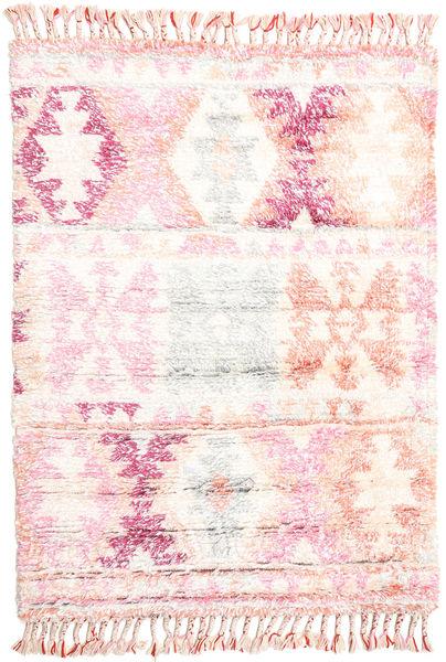 Märta - Rosa Alfombra 120X180 Moderna Hecha A Mano Beige/Rosa Claro (Lana, India)