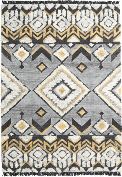 Deco Rug 200X300 Authentic  Modern Handwoven Light Grey/Black (Wool, India)