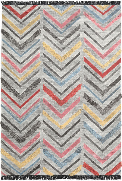 Zigzag Rug 200X300 Authentic  Modern Handwoven Light Grey/Dark Grey (Wool, India)