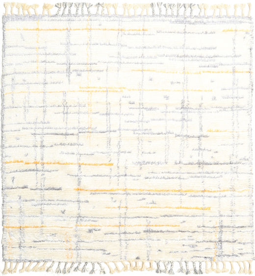 Rakel Rug 200X200 Authentic  Modern Handknotted Square Beige (Wool, India)