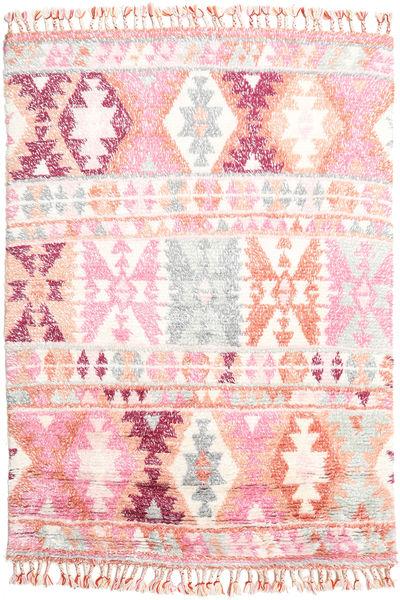 Märta - Roosa Matto 160X230 Moderni Käsinsolmittu Vaaleanpunainen/Beige (Villa, Intia)