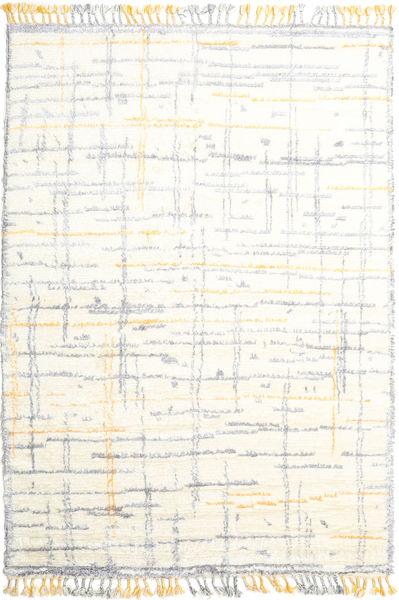 Rakel 絨毯 200X300 モダン 手織り ベージュ/薄い灰色 (ウール, インド)
