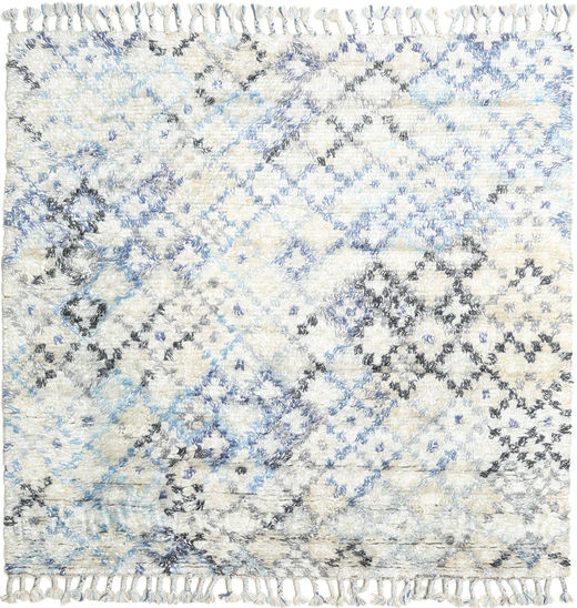 Greta Rug 200X200 Authentic  Modern Handknotted Square Beige/Light Grey (Wool, India)