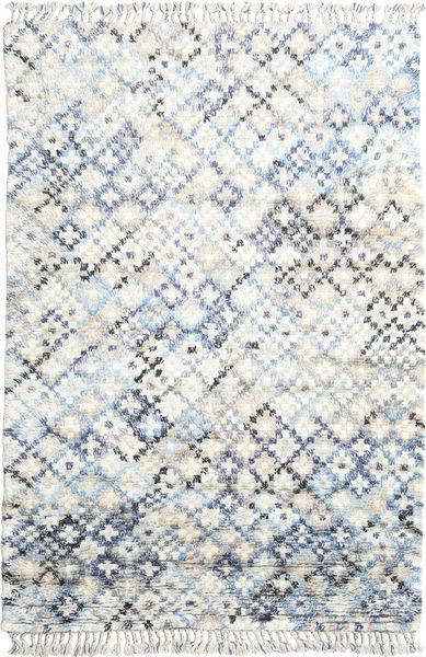 Greta Tapis 200X300 Moderne Fait Main Gris Clair/Blanc/Crème (Laine, Inde)