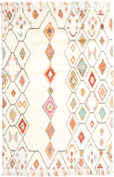 Hulda 絨毯 160X230 モダン 手織り ベージュ/ホワイト/クリーム色 (ウール, インド)