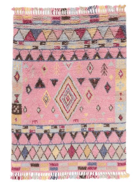 Fanny Teppich  160X230 Echter Moderner Handgeknüpfter Hellrosa/Hellgrau (Wolle, Indien)