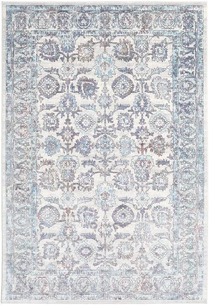 Granada - Blå Matta 200X300 Modern Vit/Cremefärgad/Ljusgrå ( Turkiet)