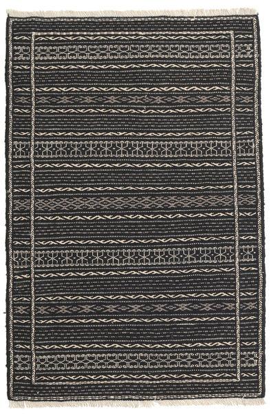 Kilim Rug 80X122 Authentic  Oriental Handwoven Black/Dark Grey (Wool, Persia/Iran)