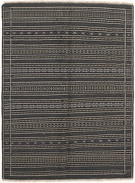 Kilim Rug 152X204 Authentic  Oriental Handwoven Dark Grey/Black/Light Grey (Wool, Persia/Iran)