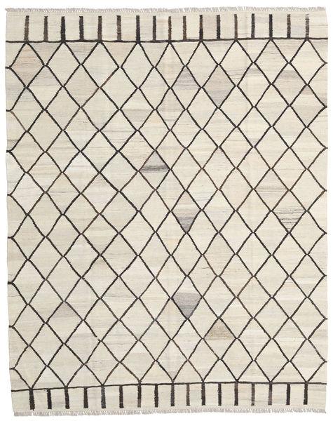 Kelim Ariana Vloerkleed 195X244 Echt Modern Handgeweven Beige/Donkerbeige/Lichtgrijs (Wol, Afghanistan)