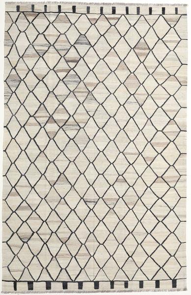 Kilim Ariana Szőnyeg 195X307 Modern Kézi Szövésű Világosszürke/Sötét Bézs (Gyapjú, Afganisztán)