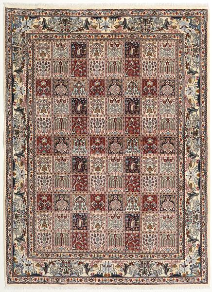 ムード 絨毯 167X228 オリエンタル 手織り 薄茶色/濃い茶色 (ウール/絹, ペルシャ/イラン)